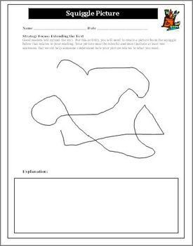 Reading Activity for Any Novel Unit Squiggle Picture Drawing