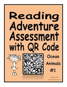 Reading Adventure Assessment with QR Code Ocean Animals 1
