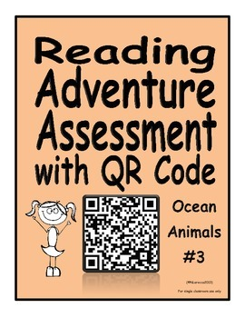 Reading Adventure Assessment with QR Code Ocean Animals 3