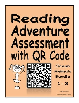 Reading Adventure Assessments with QR Codes Ocean Animals