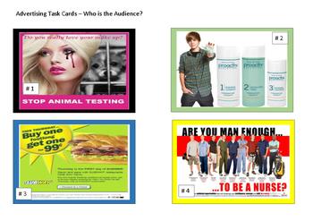 Reading -Advertising Task Cards
