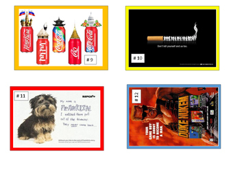 Reading - Advertising Task Cards - with Graphic Organiser