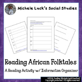 Reading African Folktales Activity with Information Organizer