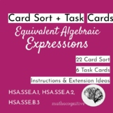Reading Algebra: Card Sort+ Questions (Intro variables & n