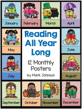 Reading All Year Long: 12 Monthly Posters
