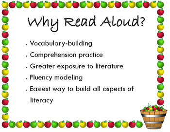 Reading Aloud Benefits Poster