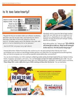 Reading Aloud: Handout for Parents
