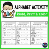 Alphabet Sentences - Letter Sounds and Letter Recognition Worksheets