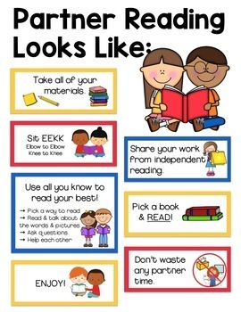 Reading Anchor Chart Bundle: Anchor Charts for Independent & Partner Reading