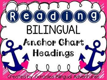 Reading Anchor Chart Headings BILINGUAL
