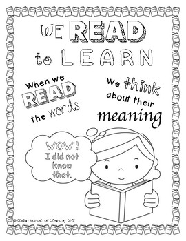 Reading Anchor Chart-Readers Think