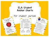 Reading Anchor Charts (ELA) Student Interactive Journals