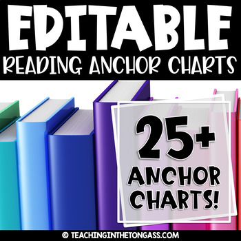 Reading Anchor Charts | Reading Posters EDITABLE BUNDLE