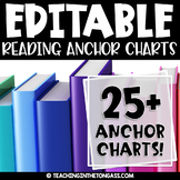 EDITABLE Reading Anchor Charts BUNDLE (Reading Posters)
