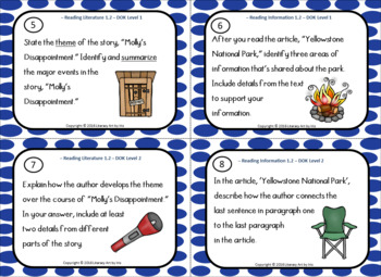 Reading And Writing Activities with 6 Traits Posters (Camping)