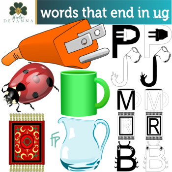 Reading And Writing Words That End In Ug Clipart And Worksheets