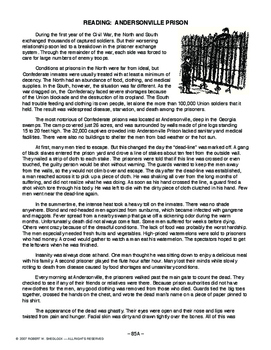 Reading: Andersonville Prison, AMERICAN HISTORY LESSON 85 of 150