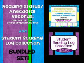 Reading Anecdotal Calendars and Reading Log Bundle