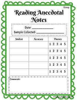 Reading Anecdotal Notes
