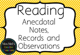 Reading - Anecdotal Notes, Records and Observations - Asse