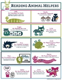 Reading Animal Helpers Poster: Early Childhood Literacy St
