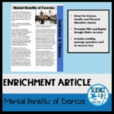Reading Article: Mental Benefits Of Exercise (PDF and Goog