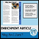 Distance Learning Reading Article: Why Am I Sore? (Google