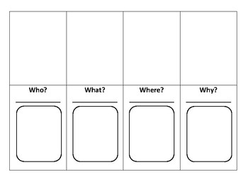 Reading-Asking Questions Foldable