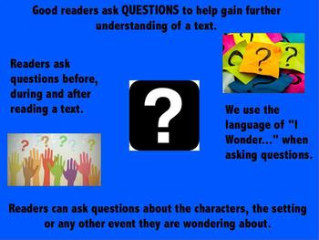 Reading Asking Questions Poster