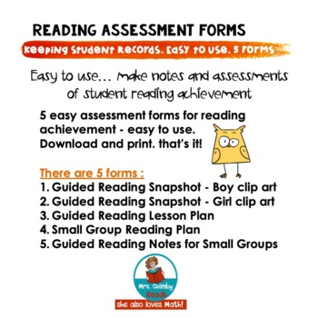 Reading Assessment - 5 Forms - (Learning to Read)