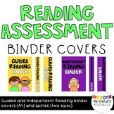 Reading Assessment Binder Covers and Spines