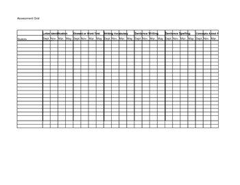 Reading Assessment Grid