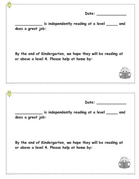 Reading Assessment Note