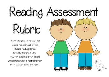 Reading Assessment Rubric - Generic