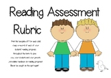 Reading Assessment Rubric - Generic