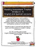 Reading Assessment Tracker - TEKS aligned!