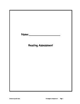 Reading Assessment for K or 1 Grade