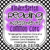 Reading Assessments for Common Core Standards Kindergarten