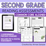 Reading Assessments for Second Grade (PDF & Digital) / Dis