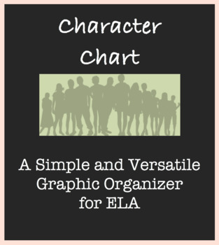 Reading Assignment Worksheet in ELA; Simple Character Chart; Versatile General