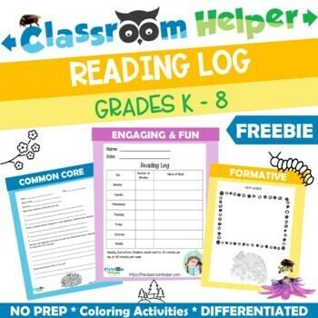Reading Response Packet for K - 5