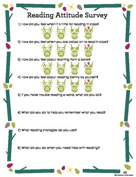 Reading Attitude Survey {FREE}