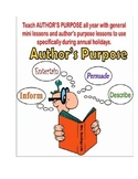 Reading: Author's Purpose ALL YEAR!