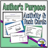 Author's Purpose Task Cards and Reading Practice Activity