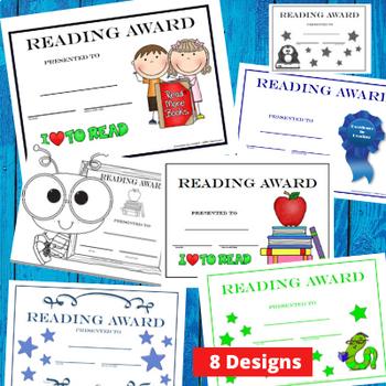 Reading Award Certificates