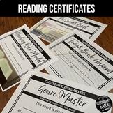 Reading Awards: 50 Certificates for Secondary ELA
