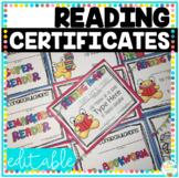 Reading Awards Certificates