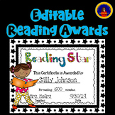 Reading Awards Editable Distance Learning
