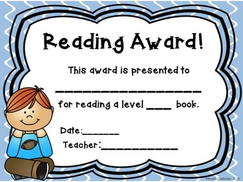 Reading Awards/Certificates