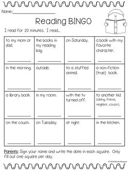 Reading BINGO - Bilingual Bundle